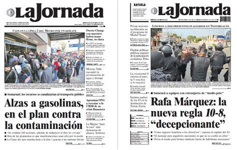 Noticias Guerrer@s SME: Periódicos LA JORNADA: Alzas a ...