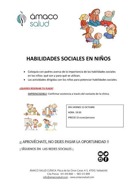 ¡NOVEDAD! TALLER DE HABILIDADES SOCIALES EN NIÑOS ...