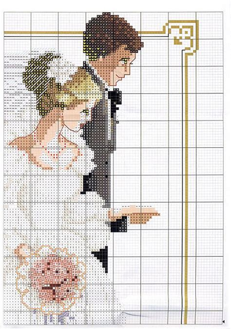 Novios en Punto de Cruz | aşk&evlilik/love&marriage ...