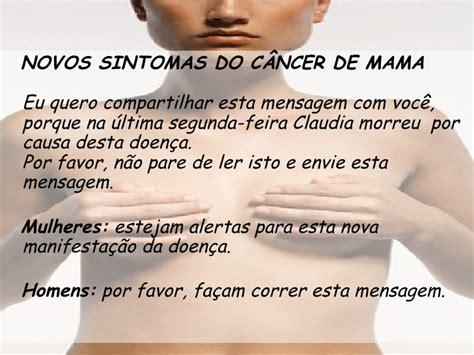 Novos Sintomas do Cancer de Mama