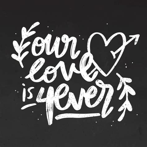 Nuestro amor es siempre letras en la pizarra | Vector Gratis