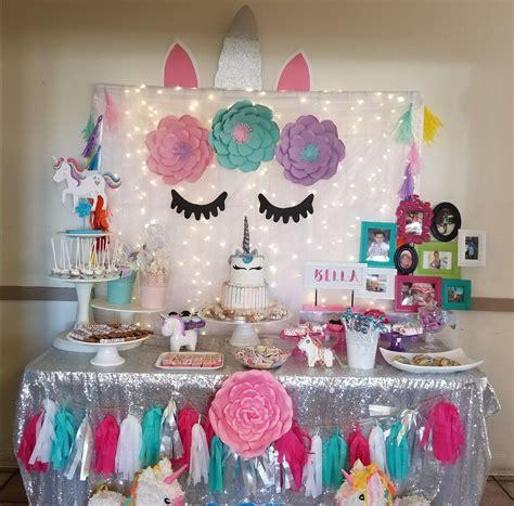 Nueva fiesta de unicornio | Decoracion fiesta unicornio ...