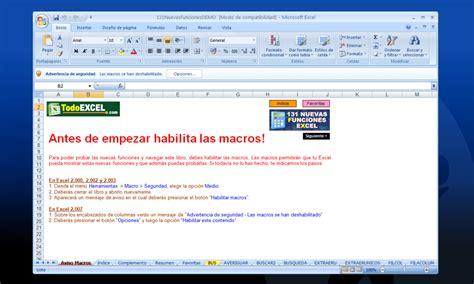 Nuevas Funciones Excel   Descargar
