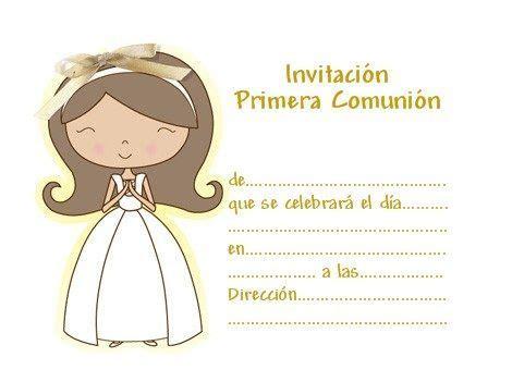 Nuevas invitaciones de comunión para imprimir gratis ...