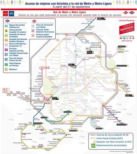 Nuevo horario Metro Madrid para acceso con bicicletas ...