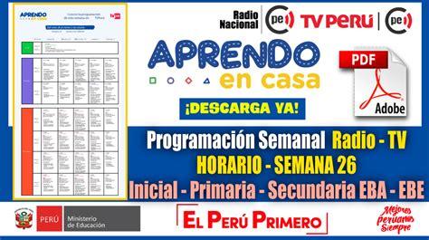 Nuevo Horario Semanal – Programación Radio y TV SEMANA 26 ...