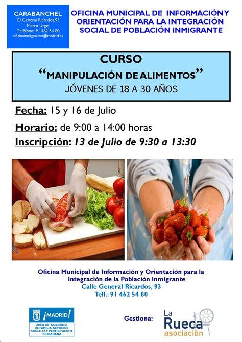 Nuevos cursos de Manipulación de Alimentos   Oficina ...