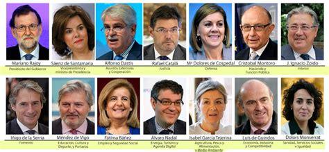 Nuevos ministros Gobierno Rajoy: Rajoy nombra un Gobierno ...