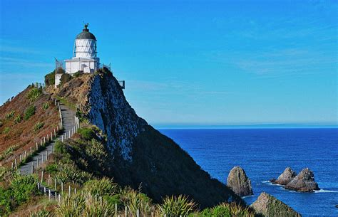 Nugget Point Lighthouse 4   Catlins   New Zealand ...