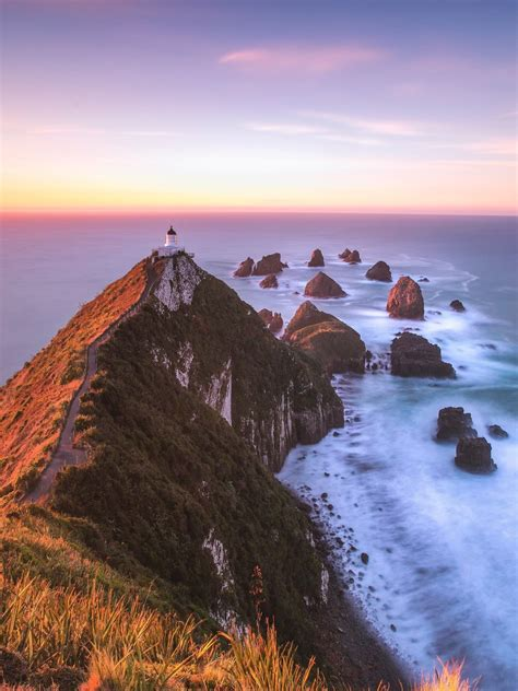 Nugget Point Lighthouse, Ahuriri Flat, New Zealand   Feel ...