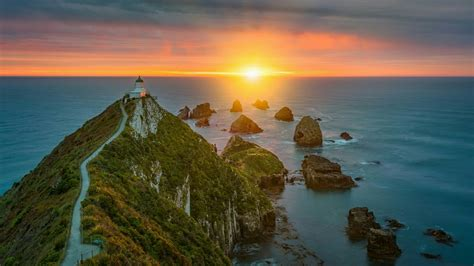 Nugget Point Lighthouse   New Zealand HD Wallpaper ...