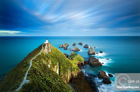 Nugget Point Lighthouse, Nugget Point, | Stock Photo
