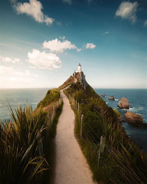 Nugget Point Lighthouse, South Island, New Zealand ...