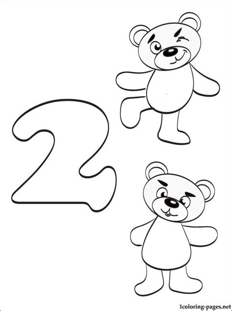 Number 2 Coloring Page   GetColoringPages.com