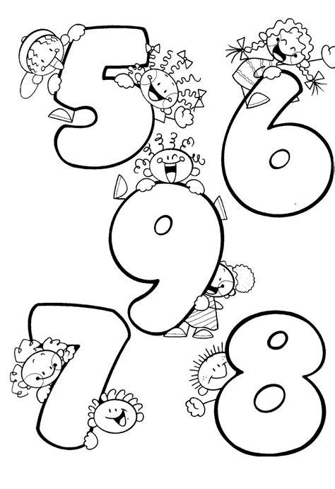 Números divertidos para colorear