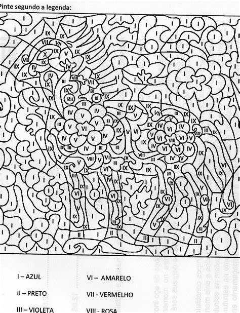 Números romanos   Pintar por número, Dibujos para colorear ...
