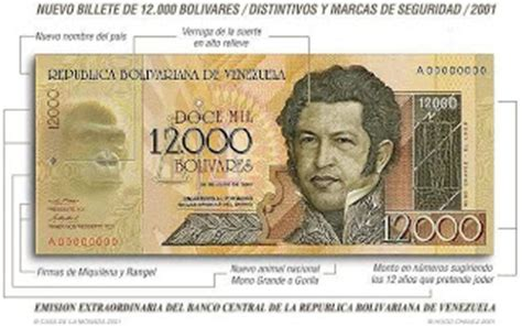 Numismática curiosa: Nuevo billete de 12.000 bolívares de ...