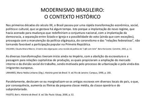 O projeto estético e ideológico do modernismo brasileiro