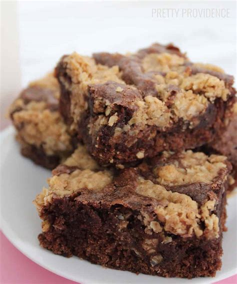 Oatmeal Cookie Brownies   Pretty Providence