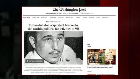 Obama, Trump e jornais dos EUA repercutem a morte de Fidel ...