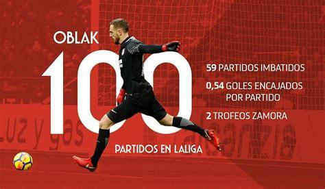@oblakjan cumple 100 partidos en LaLiga como rojiblanco ...