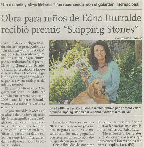 Obra para niños de Edna Iturralde recibió premio Skipping ...