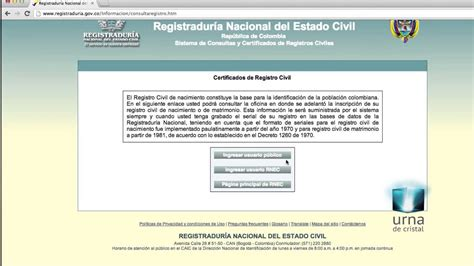 Obtén el duplicado de tu registro civil en internet   YouTube