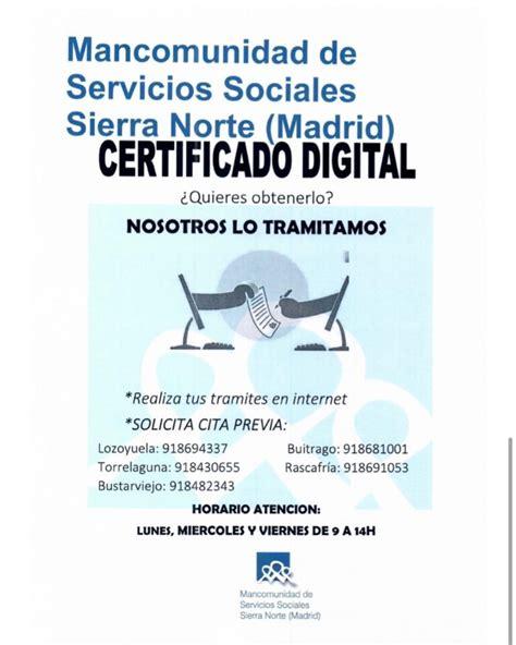 Obtén tu Certificado Digital en Servicios Sociales ...