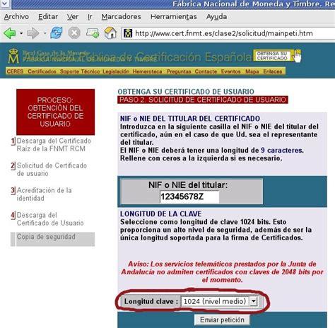 Obtención del Certificado Digital con Netscape/Firefox