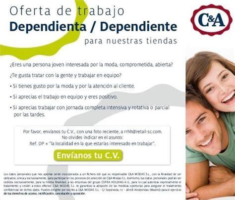 Oferta de empleo: Dependientes/as para tiendas C&A ...