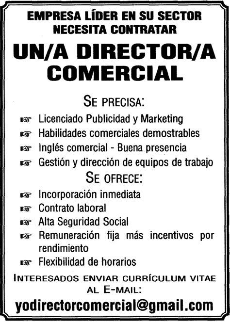 Oferta de empleo: Director/a Comercial para Canarias ...