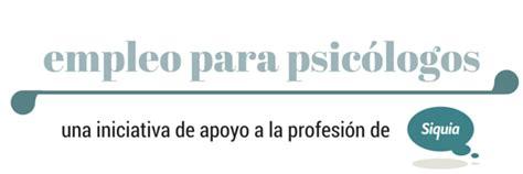 Ofertas de empleo para psicólogos. Selección de marzo ...