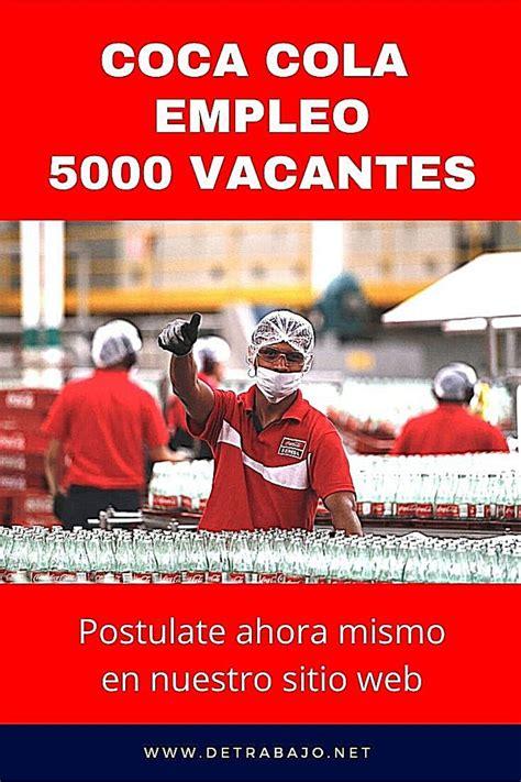 Ofertas de empleo y trabajo de Coca Cola sin Experiencia ...