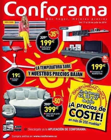 Ofertas de Muebles Conforama Catalogo de Julio 2014