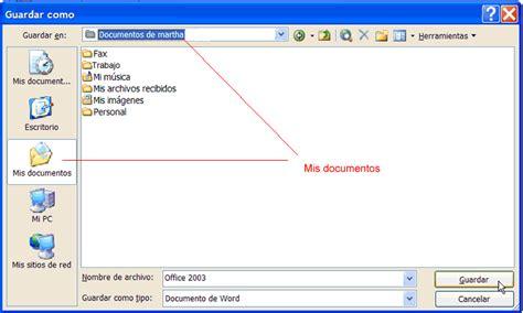 Office 2003: Guardar un archivo III