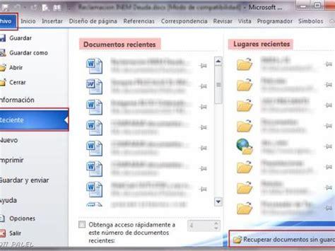 Office 2010 Recuperar Documentos Sin Guardar   Info   Taringa!