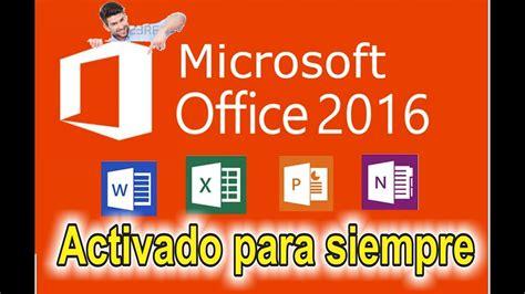 OFFICE 2016 FULL EN ESPAÑOL+ACTIVADOR DE POR VIDA 2017 ...
