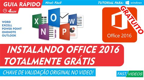 OFFICE 2016 PORTUGUES GRATUITO COMPLETO ORIGINAL