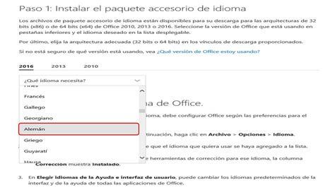 Office 2016 • Instalación paquete de idioma alemán ...