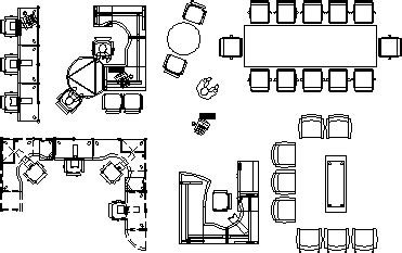 Office Furniture s 2D DWG Block for AutoCAD • Designs CAD