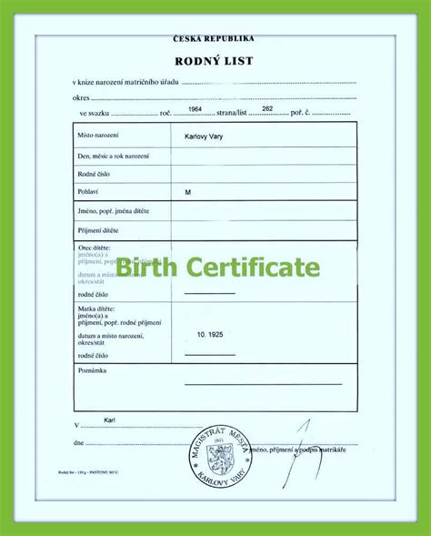 Official Birth Certificate Translation