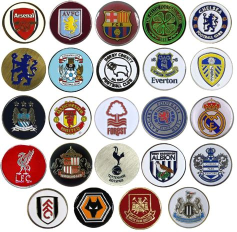 OFFICIAL FOOTBALL CLUB   GOLF BALL MARKERS    21 Teams ...