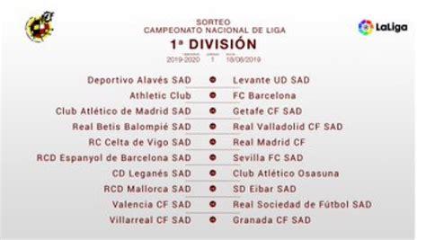 OFFICIAL: La Liga 2019/2020 season schedule revealed ...