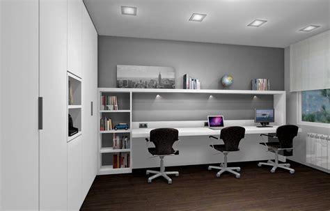 Oficina para tres personas en habitación | Oficinas ...