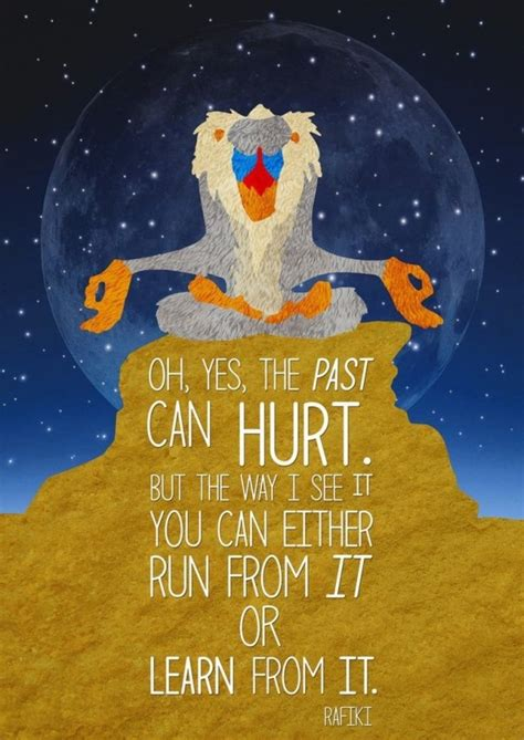 Oh, yes, the past can hurt. But the way I see it you can ...