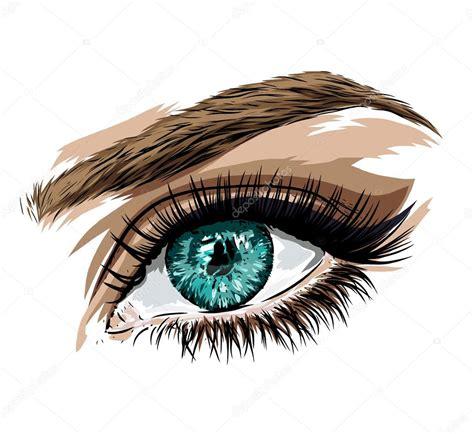 Ojo dibujo realista a color | Bella mujer ojo de color ...
