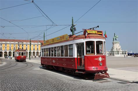 Old Cable Car In Lisbon, Portugal Stock Image   Image of ...