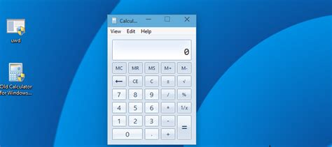 Old Calculator for Windows 10 from Windows 7 or Windows 8 ...