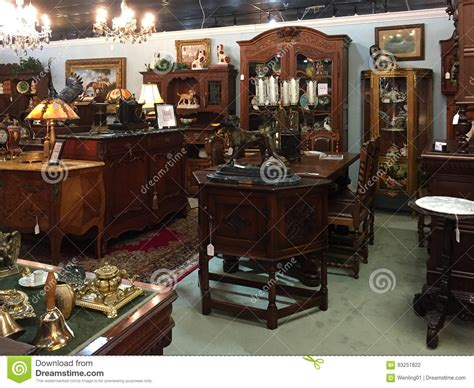 Old Fashioned Furniture For Sale At Antique Store ...