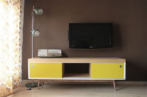 Old IKEA LACK TV furniture hacked into vintage style ...